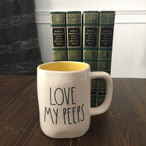 "Rae Dunn ""Love my peeps"" mug"